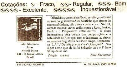 CD 'Alex Martinho' (1994)